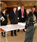 Commissioners Foltz and Klotz Reviewing Plans of Sunnybrook Ballroom Renovations