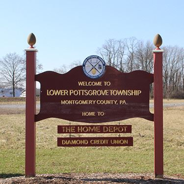 Lower Pottsgrove Township town sign