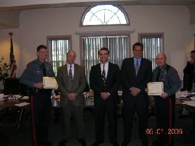 Officers Deisinger and Walters Being Acknowledged
